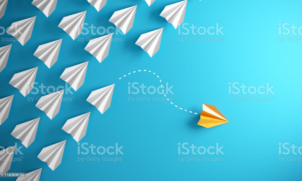 Leadership Concept With Paper Airplanes - Royalty-free Avião Foto de stock