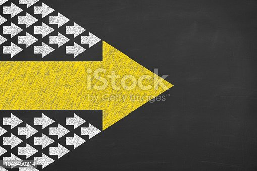 Leadership Concepts on Blackboard Background