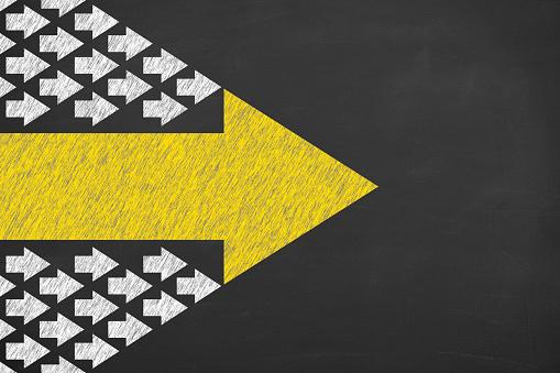 istock Leadership Concepts on Blackboard Background 1043450214