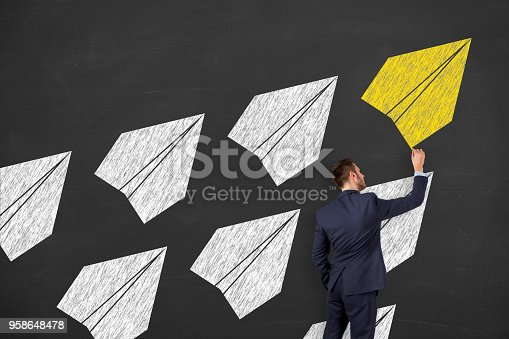 istock Leadership Concepts on Blackboard Background 958648478