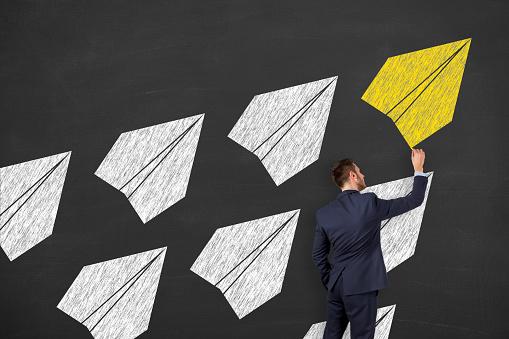 istock Leadership Concepts on Blackboard Background 958648478