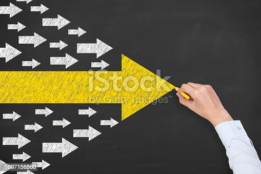 istock Leadership Concepts on Chalkboard Background 1097156860