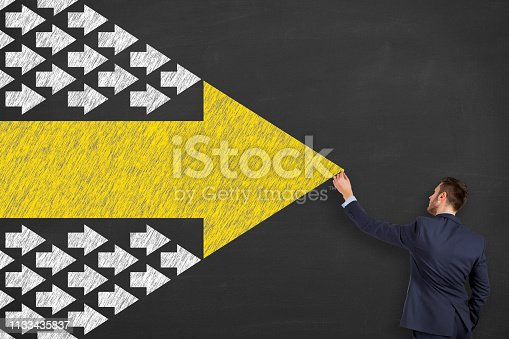 istock Leadership Concepts on Chalkboard Background 1133435837