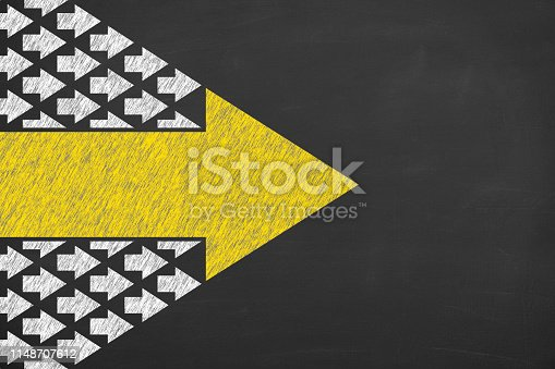 istock Leadership Concepts on Chalkboard Background 1148707612