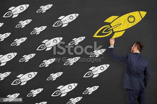 istock Leadership Concepts over Human Head 1063485048