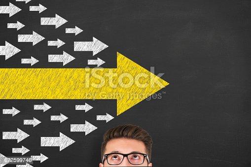 istock Leadership Concepts over Human Head 672599746