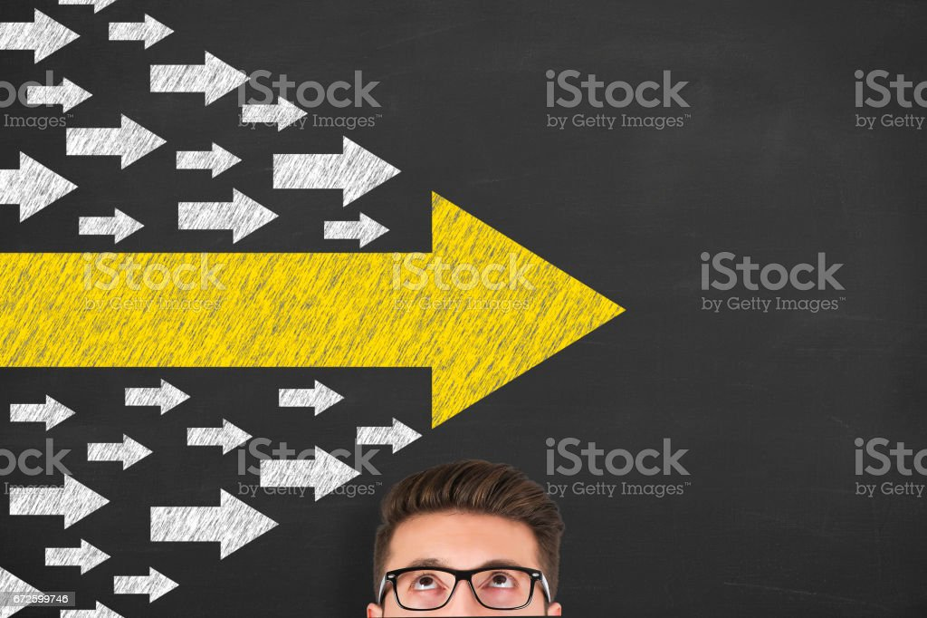 Leadership Concepts over Human Head stock photo