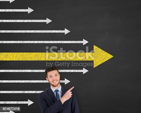 istock Leadership Concepts over Human Head 924672416