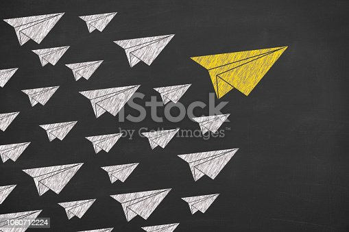 istock Leadership Concepts with Airplane 1060712224