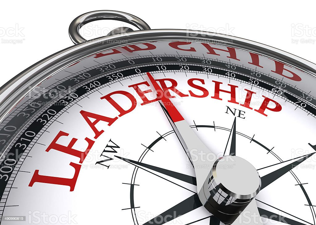 leadership conceptual compass stock photo