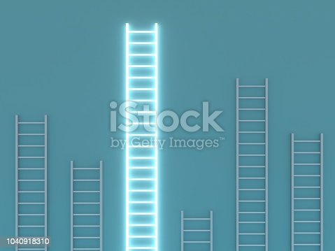 862670984 istock photo Leadership different stand out of the crowd ladder of success 1040918310