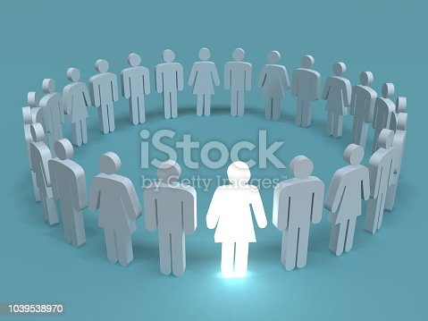 istock Leadership different stand out of the crowd people concept 1039538970