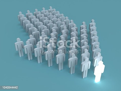 istock Leadership different stand out of the crowd people concept 1040544442
