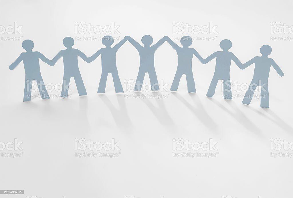 leadership human paper Lizenzfreies stock-foto