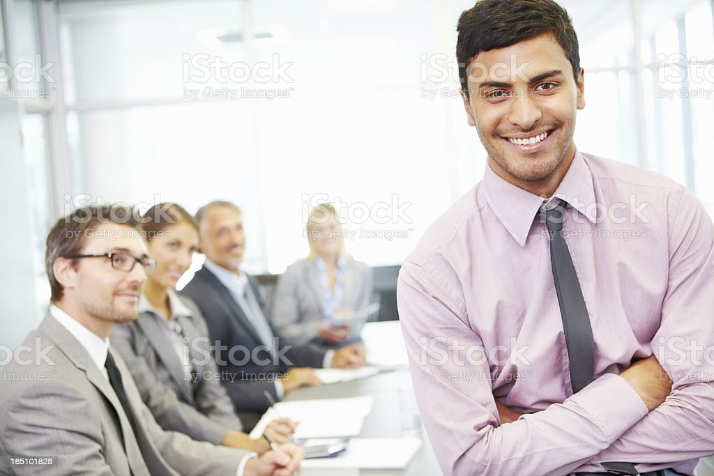 Leadership qualities royalty-free stock photo