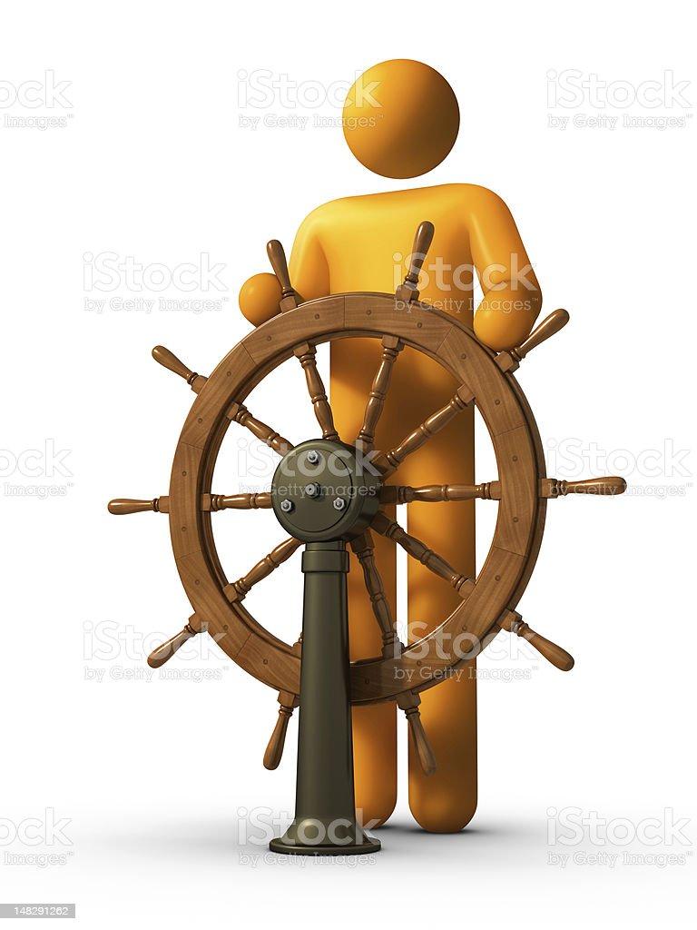 Leadership - Steersman stock photo