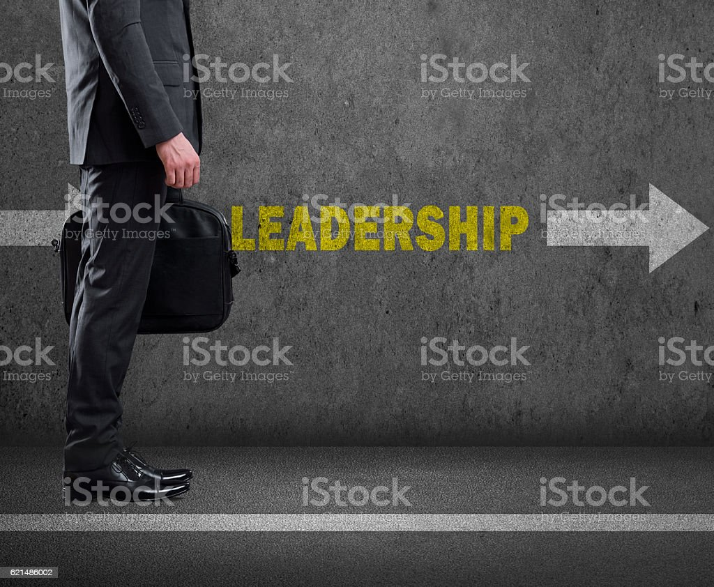 Leadership Text On Dirty Wall Stock Photo More Pictures Of