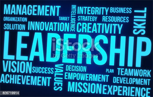 865186916 istock photo Leadership Word Cloud On Digital Screen 826719914