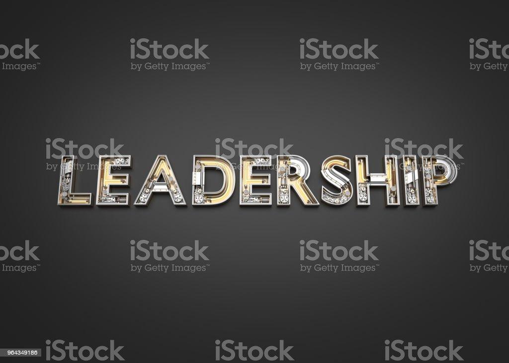 Leadership word made from Mechanic alphabet. royalty-free stock photo