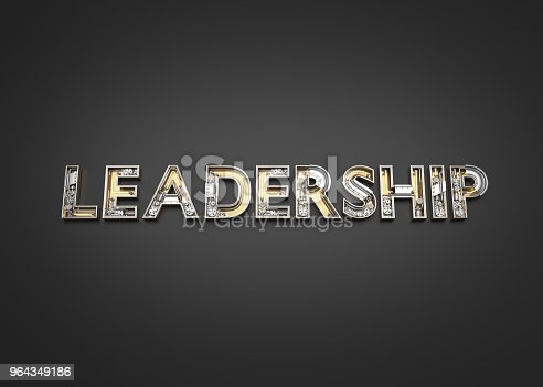 istock Leadership word made from Mechanic alphabet. 964349186