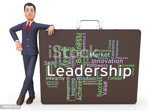 Leadership Words Indicating Directing Authority And Management