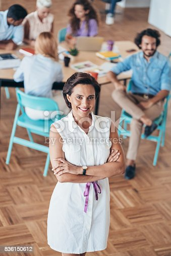 istock Leading a young multi-ethnic business team 836150612
