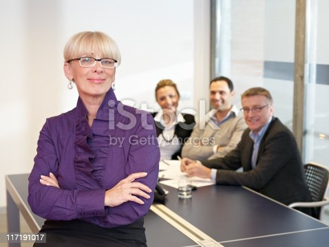 istock Leading Busines Woman in meeting 117191017