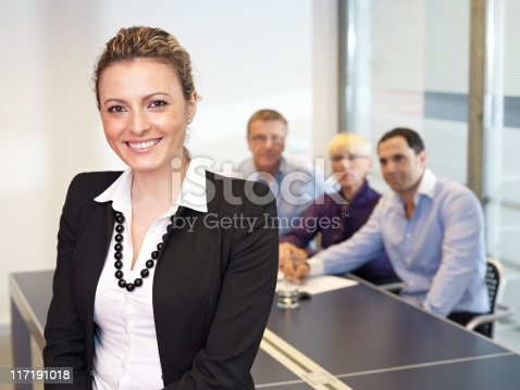 istock Leading Busines Woman in meeting 117191018