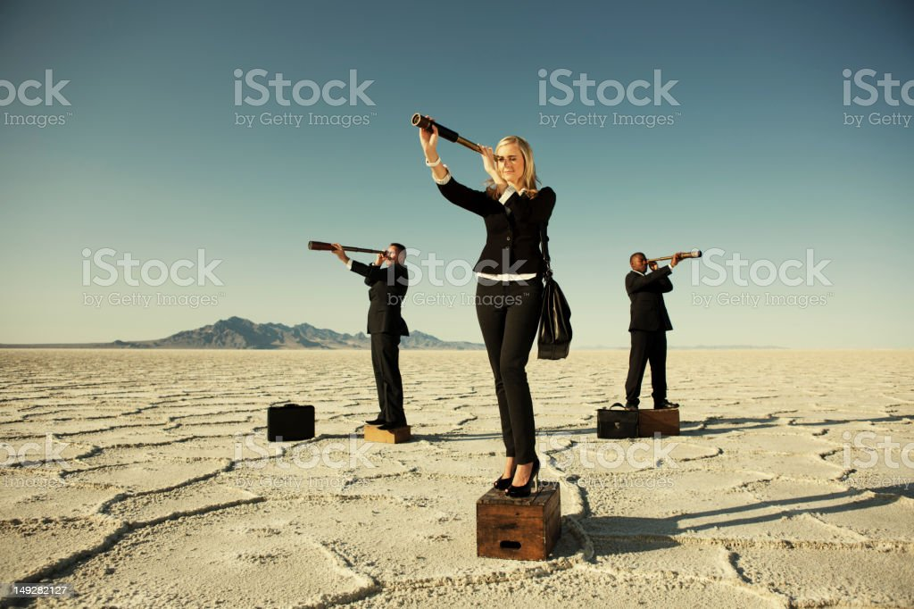 Leading Off stock photo