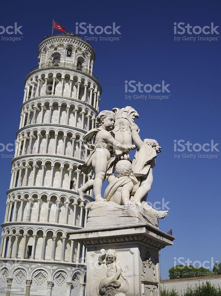 Leading Pisa Tower royalty-free stock photo