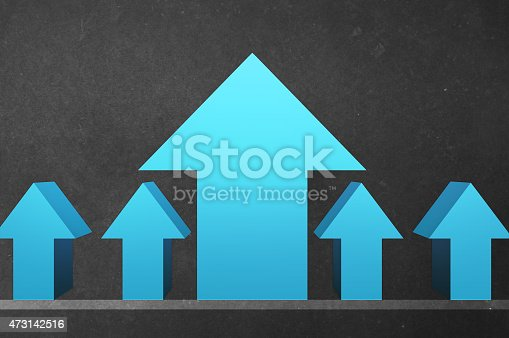 istock Leading - Standing out of the crow - Blackboard Series 473142516