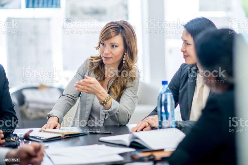 Leading The Discussion royalty-free stock photo