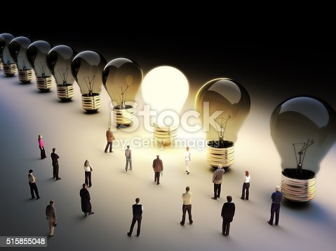 istock Leading the pack, ingenuity,standing out from the crowd concept. 515855048