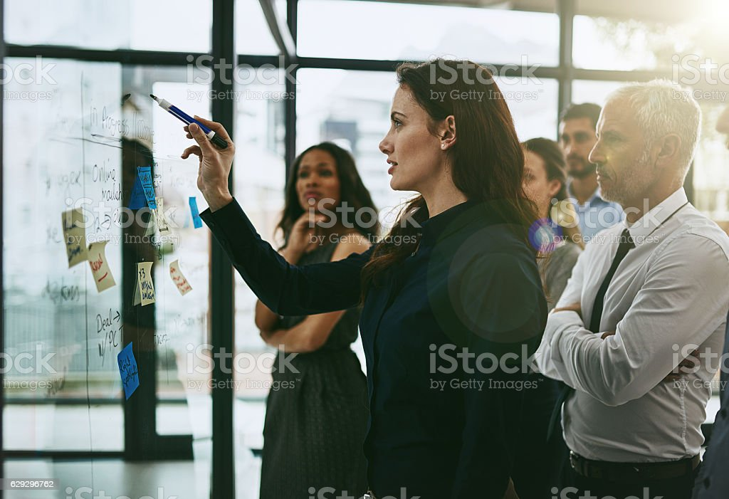 Leading the planning process stock photo