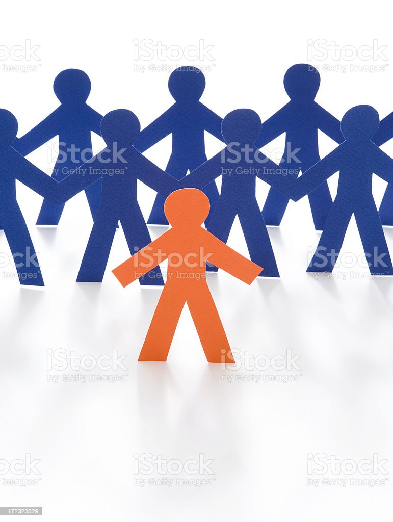 Leading the team royalty-free stock photo
