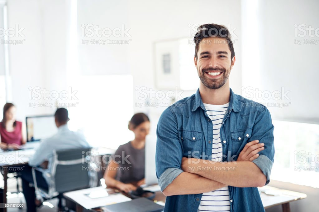 Leading the way in creative business stock photo