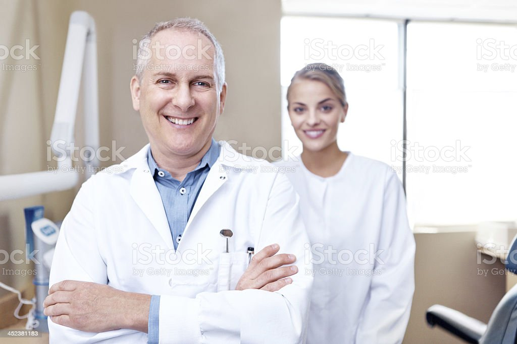 Leading the way in pain-free dentistry royalty-free stock photo