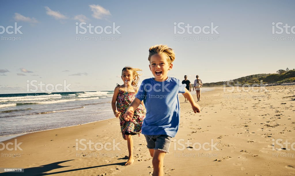 Leading the way to a day of fun - foto stock