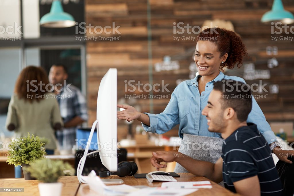 Leading the way with their creative expertise royalty-free stock photo