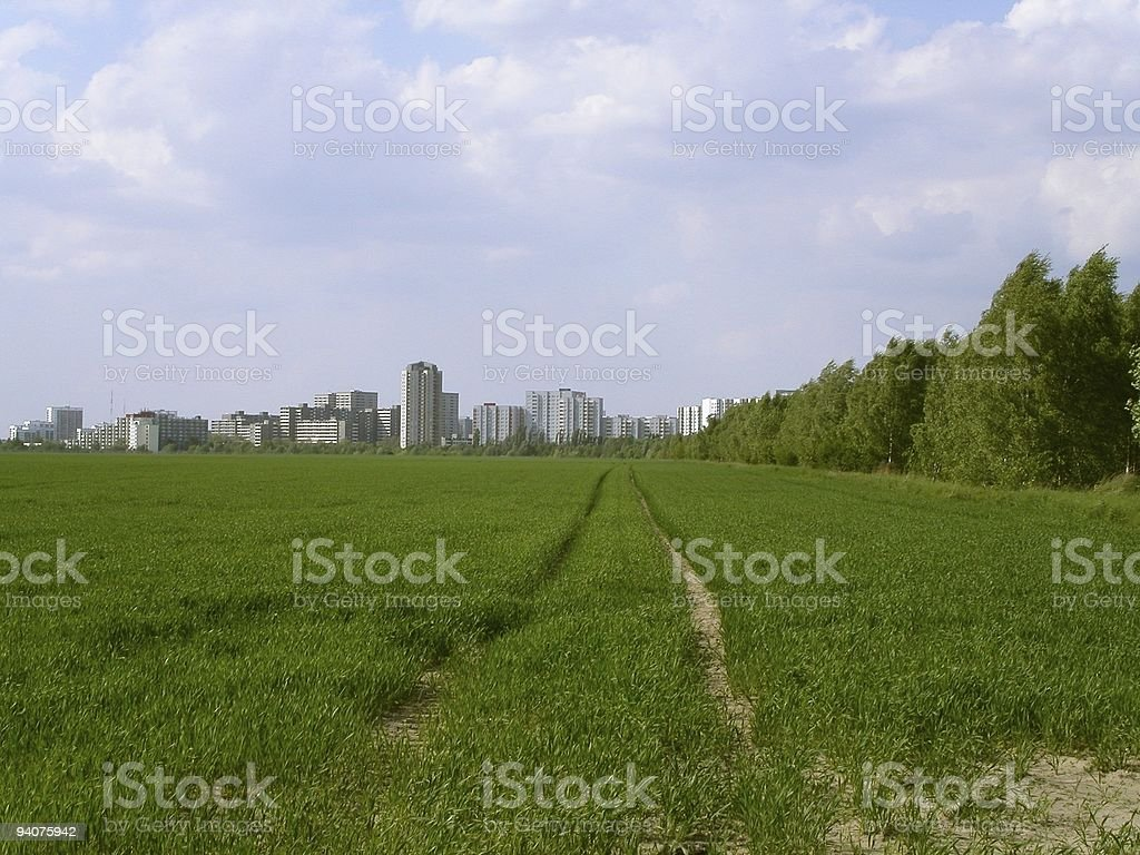 Leading to the City royalty-free stock photo