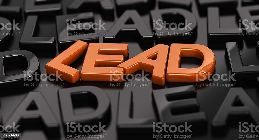 Leads Generation, Hot lead. stock photo