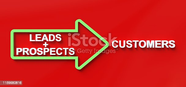 Leads Prospects Customers Business Concept