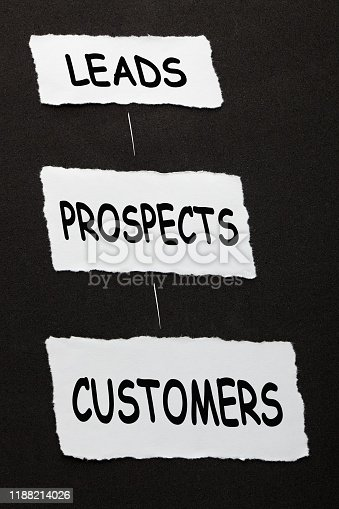520244535 istock photo Leads Prospects Customers 1188214026