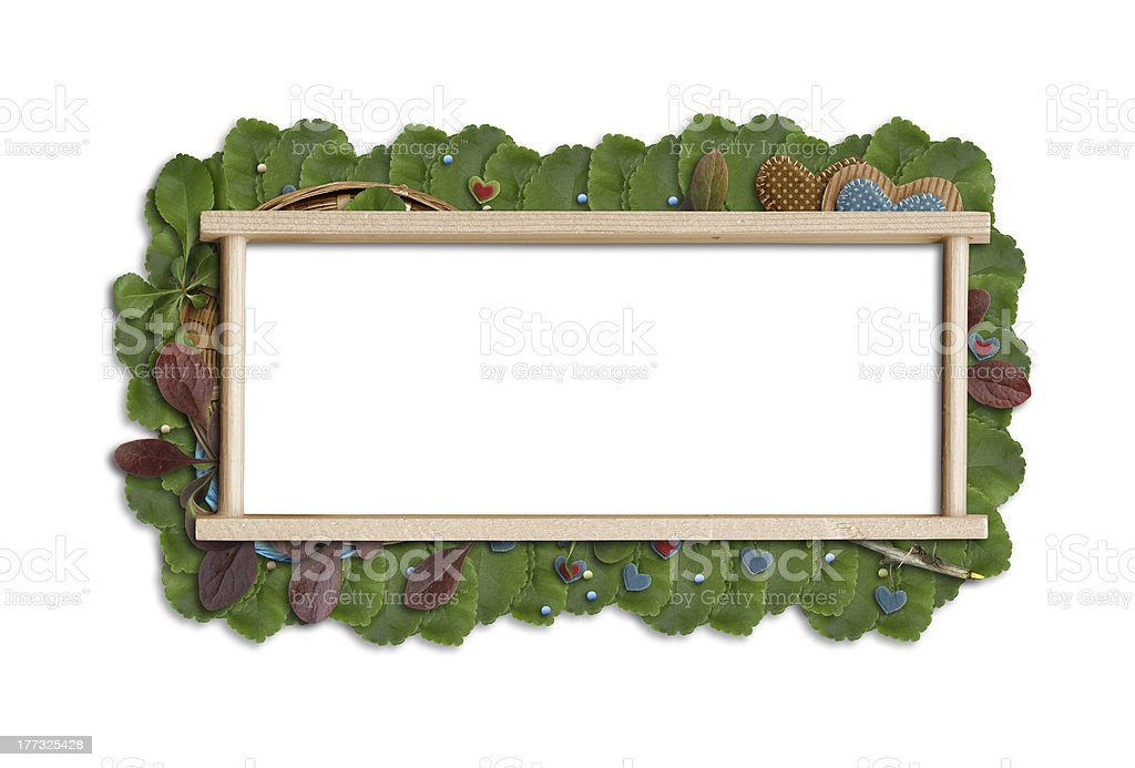 leaf banner with place for your text stock photo