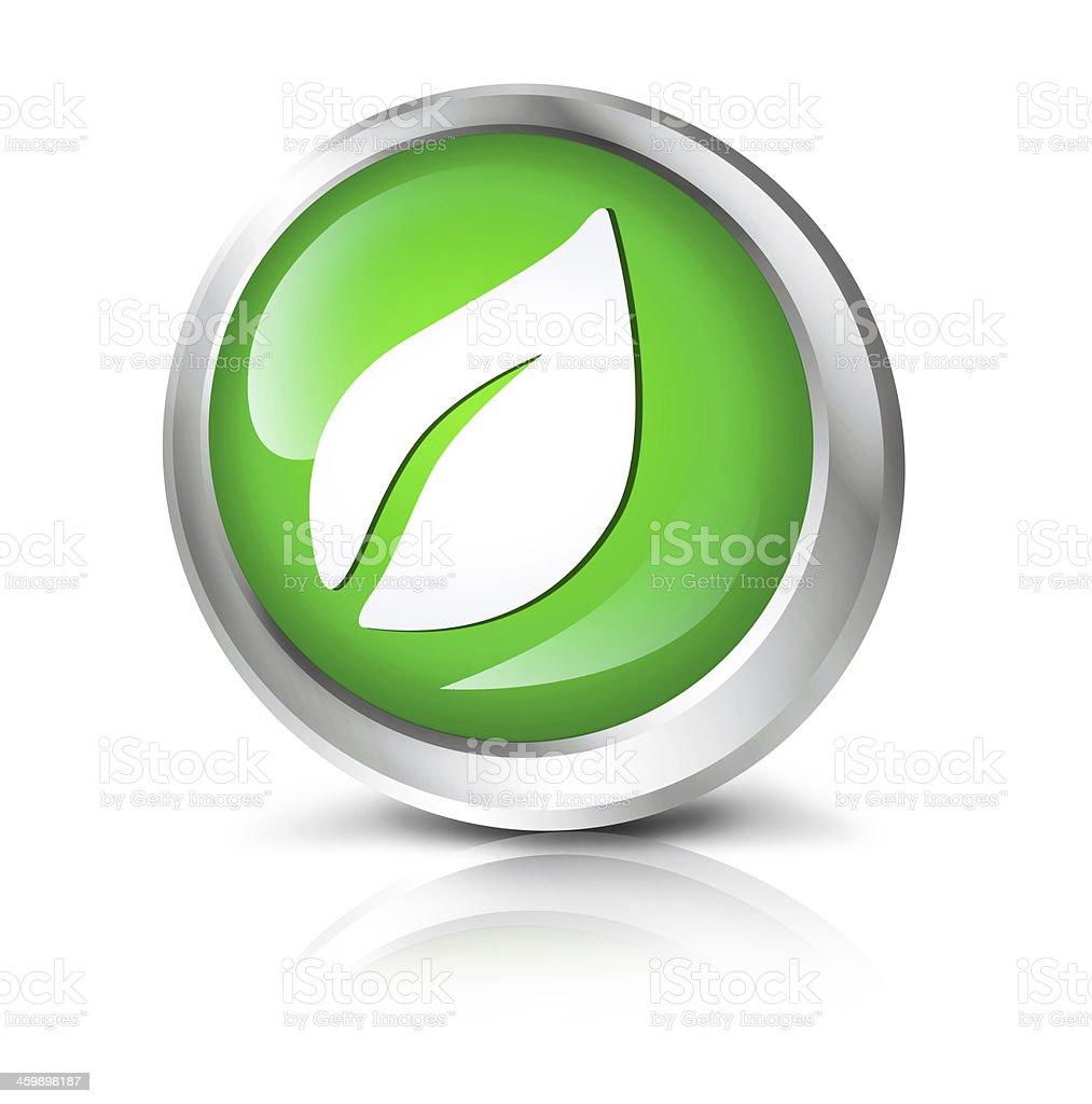 leaf or eco icon stock photo