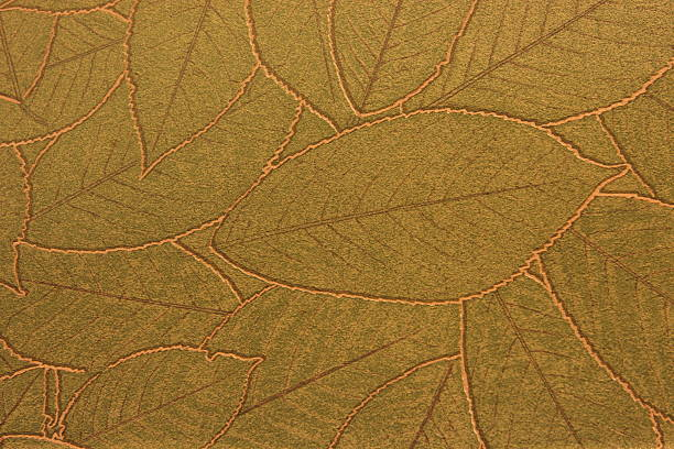 leaf vein wallpaper decor - foliate pattern stock photos and pictures