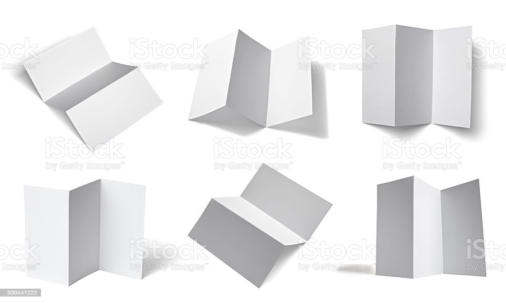 leaflet notebook textbook white blank paper template stock photo