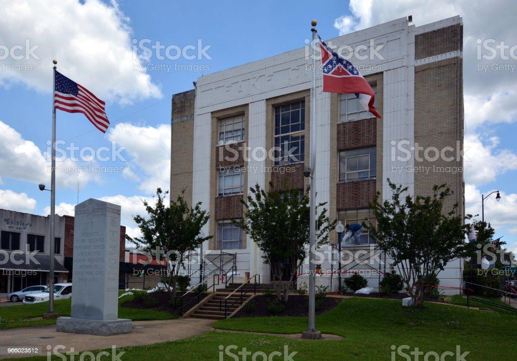 Leake County Courthouse - Lizenzfrei Fotografie Stock-Foto