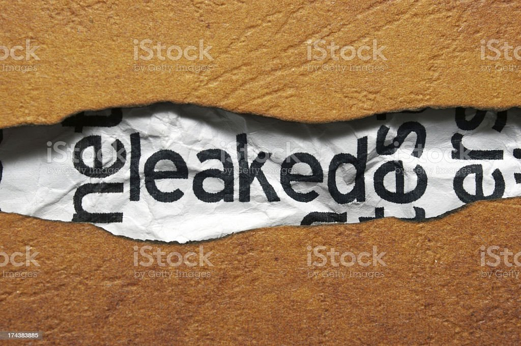 Leaked info royalty-free stock photo