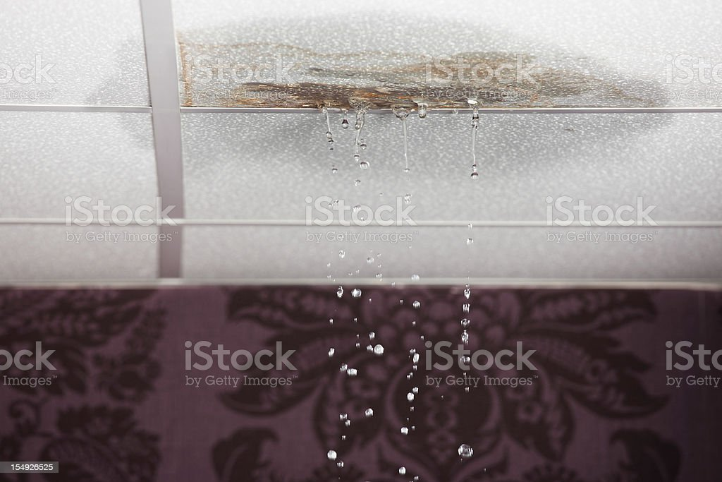 Leaking ceiling royalty-free stock photo